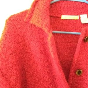 Le Moda Jackets & Coats - Le Moda Red Wool Blend Button Up Coat
